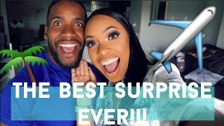 WIFE SURPRISES HUSBAND WITH A GETAWAY TRIP TO...??!!!