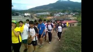 Dentro de las actividades del COLECAMP 2016, participamos de una caminata hacia los baños Termales de San Mateo 5K,