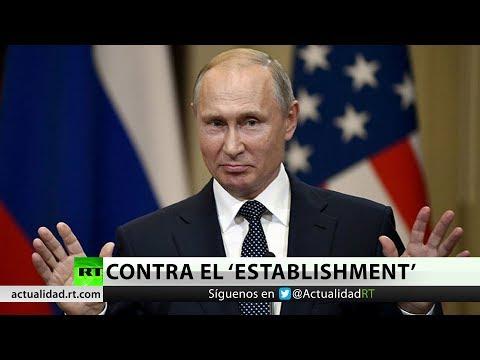 """Putin: El 'establishment' de EE.UU. está detrás de las """"contraproducentes"""" sanciones a Rusia"""