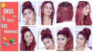 OKUL İÇİN SAÇ MODELLERİ : Isısız,Pratik 6 Saç Modeli