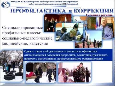 Профилактика противоправного поведения несовершеннолетних во Владимирской области