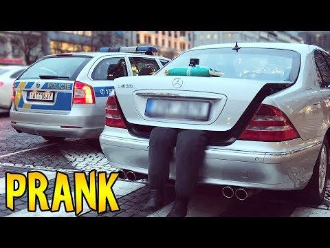 MRTV0LA V KUFRU + REAKCE POLICIE - PRANK!