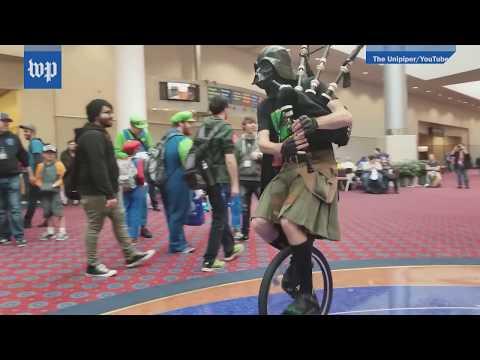 Watch the 'Unipiper' take down a Star Wars walker