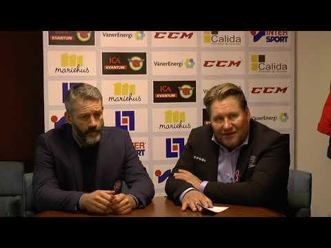 Presskonferens efter matchen Mariestad Bois HC-Lindlövens IF