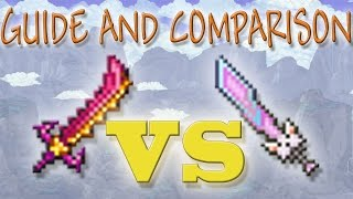 Star Wrath vs. Meowmere // Guide and Comparison // Terraria 1.3.2