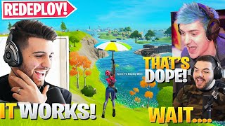 New GLIDER REDEPLOY Trick! (Use it ANYWHERE!) ft. Ninja & Courage