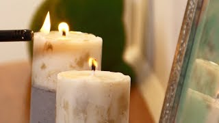 Youtube thumbnail for How to make concrete candle holders
