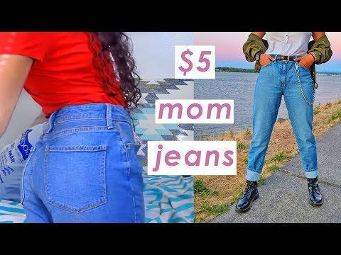 How To Thrift Mom Jeans 🌈 save that coin sis!