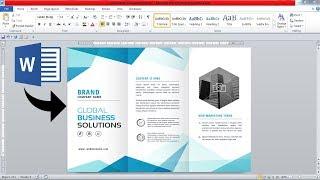3 fold Brochure Design in Microsoft office word || Brochure Design in ms word