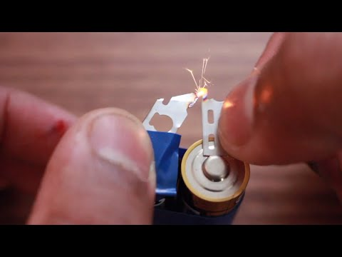 How To Make Fire Using aa Battery