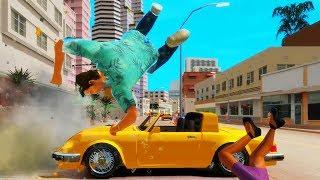 GTA Vice City Rage - Трюки Аварии и Приколы! (На движке GTA 4)