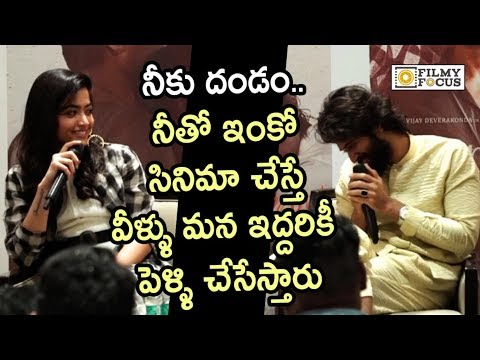 Actor Vijay Devarakonda and Rashmika Hilarious Conversation about his Next movie