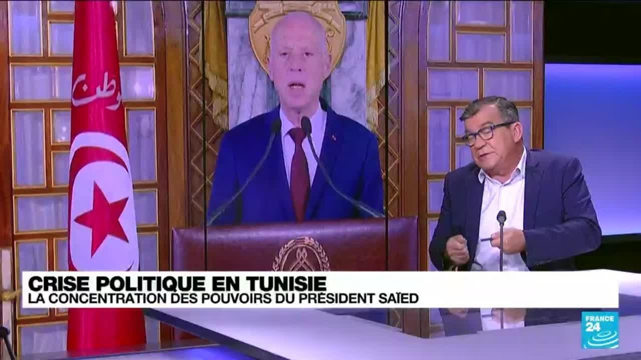 Crise politique en Tunisie : la concentration des pouvoirs du président Kaïs Saïed • FRANCE 24