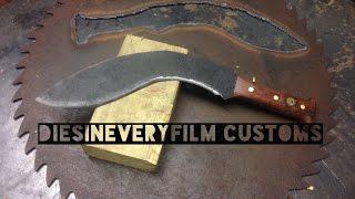 Knifemaking  Saw Blade Gurkha Style Kukri