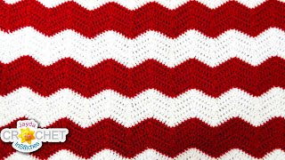 Crochet Chevron, Ripple, Zig Zag, Wave - Blanket Pattern & Tutorial