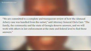 Georgia's Attorney General wants DOJ to investigate handling of Ahmaud Arbery case