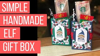 Simple Handmade Christmas Gift Box & Crazy Christmastime Stuff