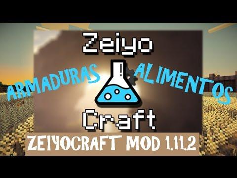 ZEIYOCRAFT MOD (1.11.2) ORES Y ARMADURAS NUEVAS! Minecraft review en español 2017