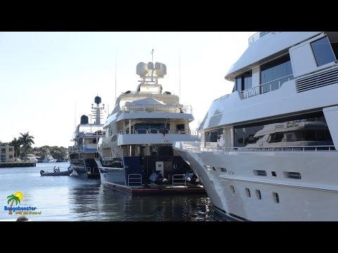Tour of Mega Yachts in Fort Lauderdale