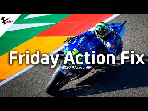 MotoGP アラゴンGP 金曜日のベストアクションのハイライト動画