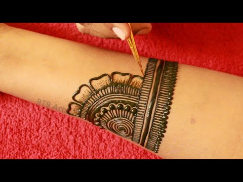 new bridal mehndi design for weddings by 9t9 arts