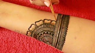 Easy Dulhan Mehndi Design For Full Hand||New Bridal Henna Mehndi Design||Simple Wedding Mehdi Design