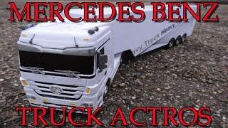 """RC MERCEDES BENZ TRUCK ACTROS FERNGESTEUERT 1:32"" -Vorstellung"