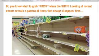 72 Things You Will Run Out Off During a SHTF