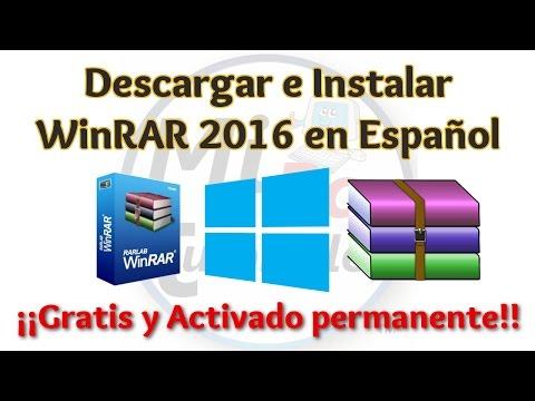 Video Tutorial Como Descargar e Instalar WinRAR 2016 Español GRATIS | 32 y 64 Bits Activado Permanente