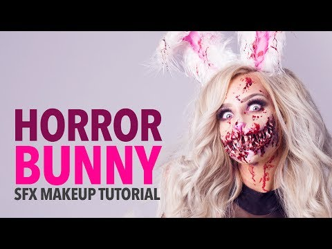 Horror bunny special fx makeup tutorial