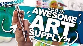 SMALL BUT POWERFUL!? | Mystery Art Box | Scrawrlbox Unboxing