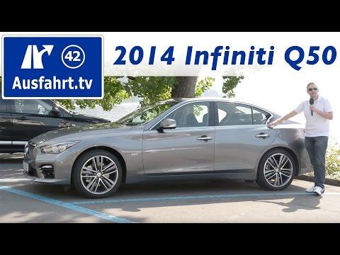 2014 Infiniti Q50 2.0 Turbo Benziner - Fahrbericht der Probefahrt - Test - Review - Deutsch - German