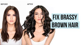 How to Remove Brassy Tones from Brown Hair   Fix Brassy Hair at Home Better Than Blue Shampoo