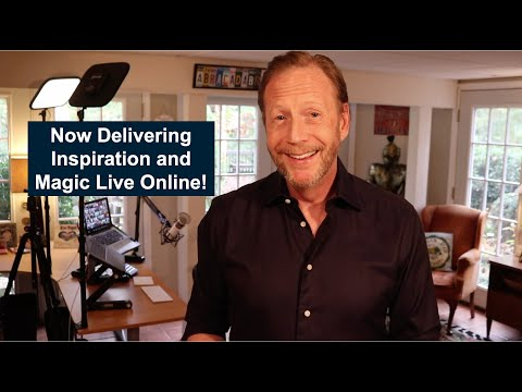 Now Delivering Inspiration and Magic Live Online!