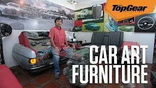 This Guy Makes Furniture Out Of Old Benz Parts