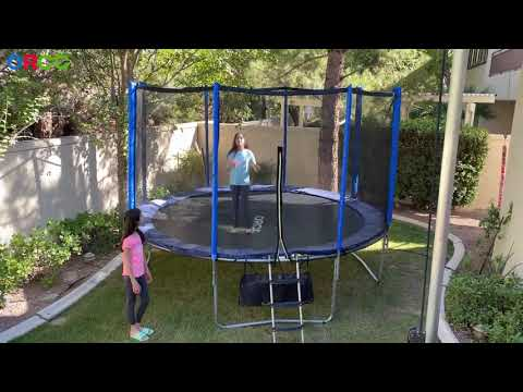 ORCC Trampoline 15 14 12 10FT Outdoor Trampoline 400 LBS Weight Capacity for Kids - Think and Find