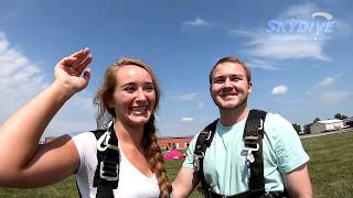 Brayden Mauder's Tandem Skydive Proposal at Skydive Indianapolis!