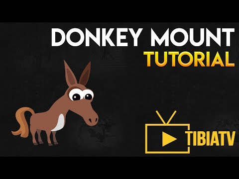 TIBIA – DONKEY MOUNT TUTORIAL