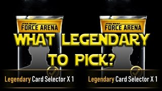 Star Wars: Force Arena - Legendary Card Selector What Hero Is Best?