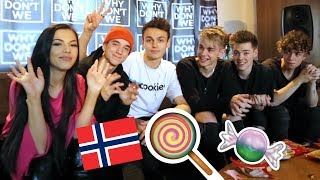 Tasting Norwegian Candy With Why Don't We  + VLOG (ANNONSE)