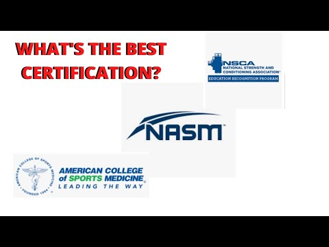 WHAT'S THE BEST PERSONAL TRAINING CERTIFICATION ...