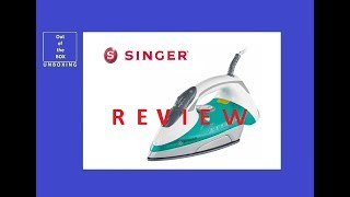 REVIEW SINGER SNG 5.22 Steam Iron UNBOXING (2200W, 3 way auto-off security and self-cleaning)