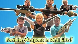 Fortnite Weapons in Real Life!   DavidsTV