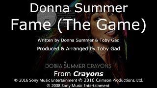 "Donna Summer - Fame (The Game) LYRICS - SHM ""Crayons"" 2008"