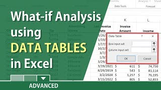 What-If analysis in Excel with a Data Table by Chris Menard