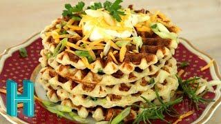 Mashed Potato Waffles! Hilah Cooking