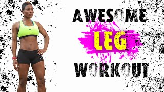 Awesome Leg Workout | Strength Training Only | No Cardio | 30 Minute Workout | Dumbbells by Crystal Hawkins