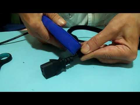 Confeccion de precintos para cables con cinta Velcro 16mm From Banggood
