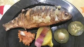 44. Фаршированная рыба жаренная. Арабская кухня.