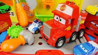 Tool station Cars Truck and Robocar Poli pix car toys play